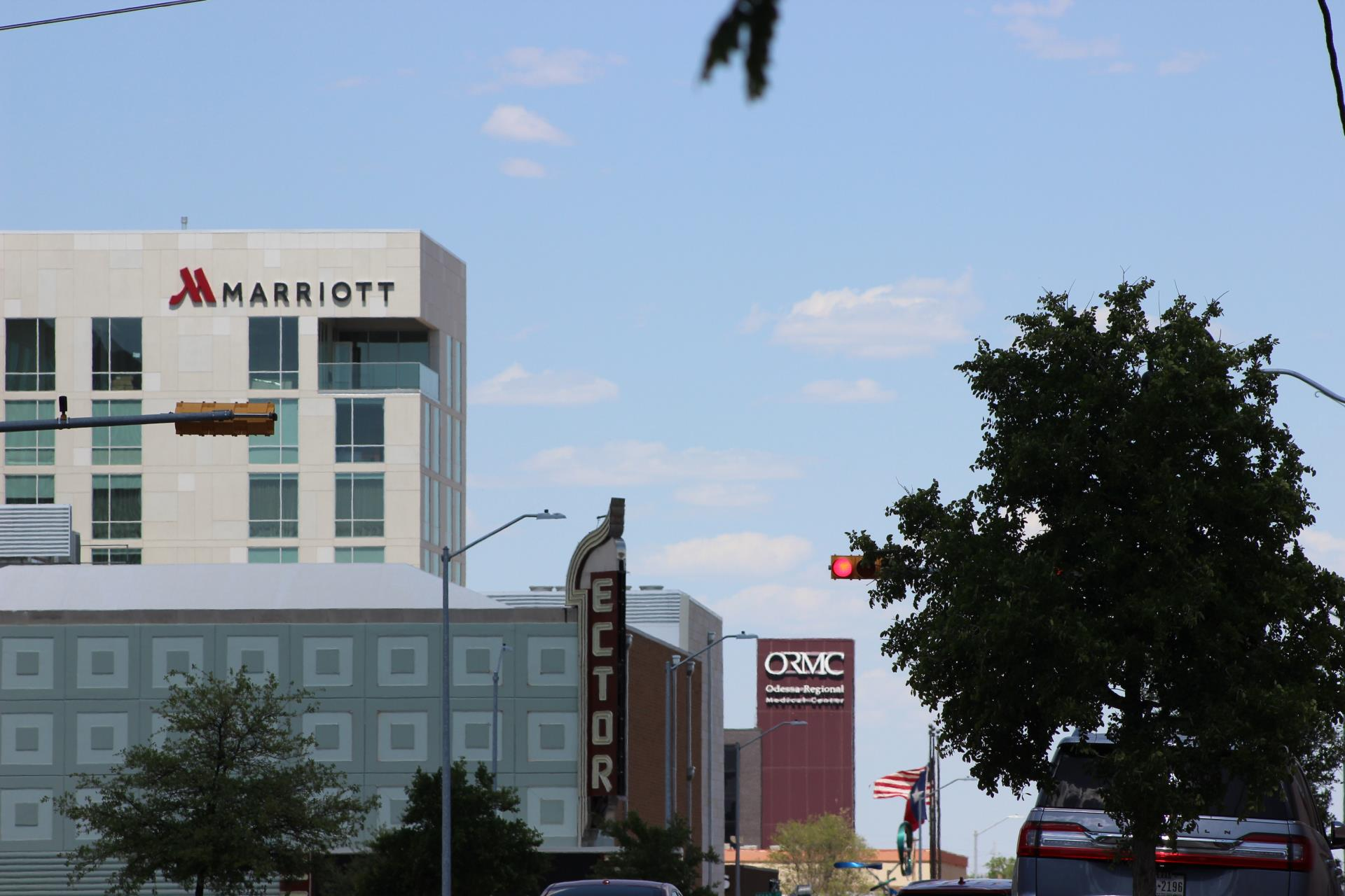 Ector Theatre, Odessa Regional Medical Center, and Odessa Marriott Hotel and Conference Center